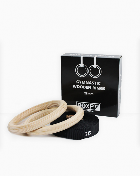 Gymnastic Wooden Rings - BOXPT